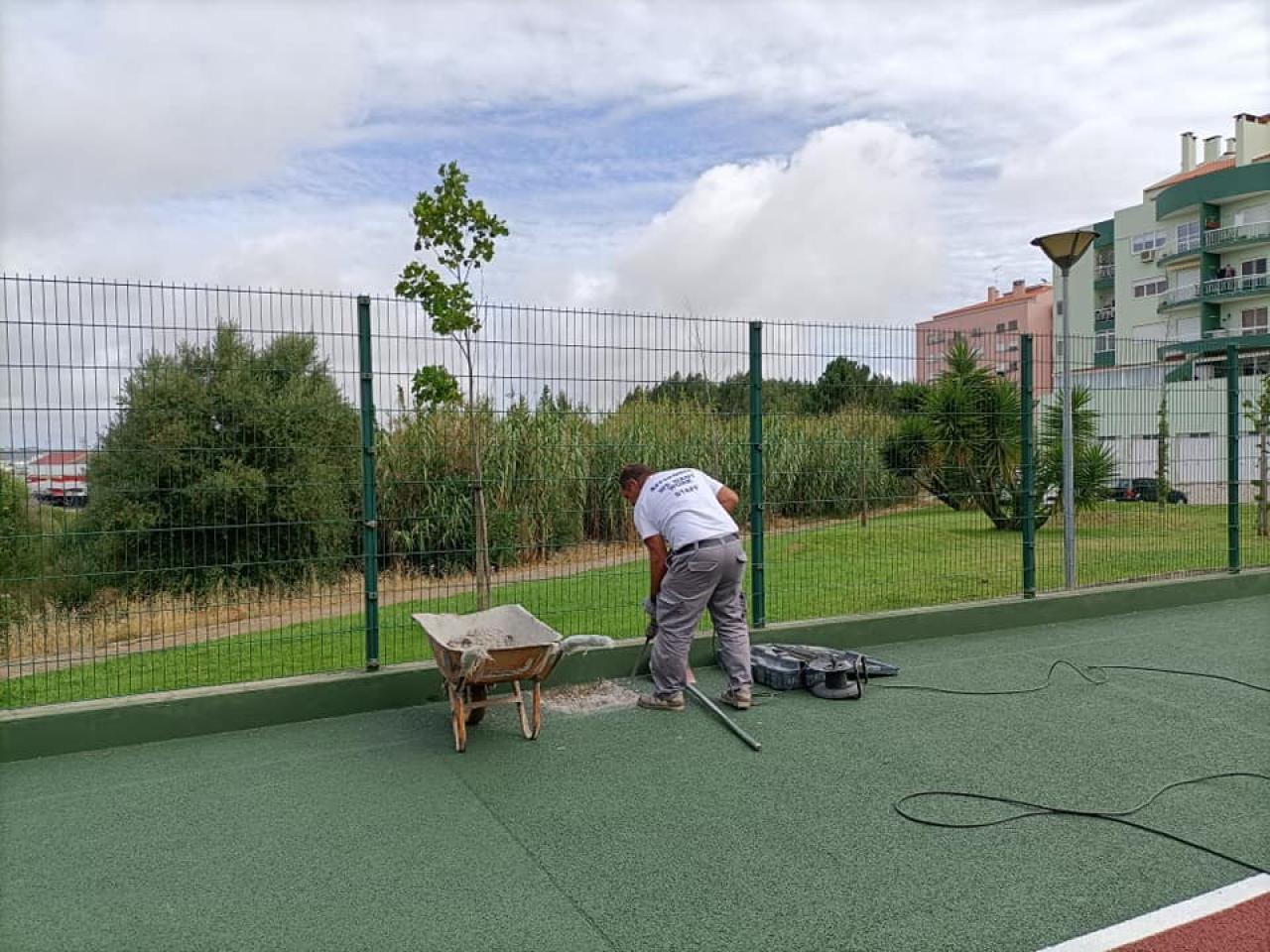 Construção de um Campo de Basquetebol no Recinto Desportivo Marquês de Pombal