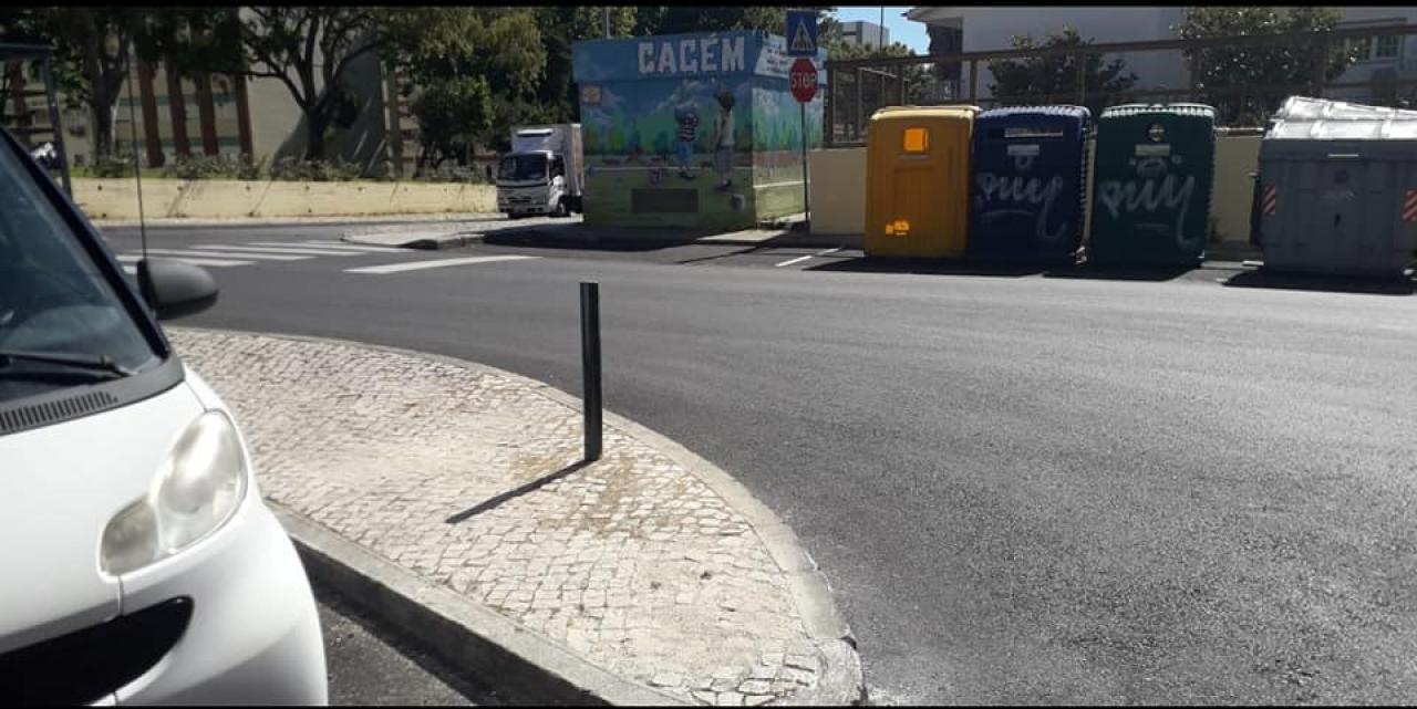 Manutenção de Calçadas e Pilaretes