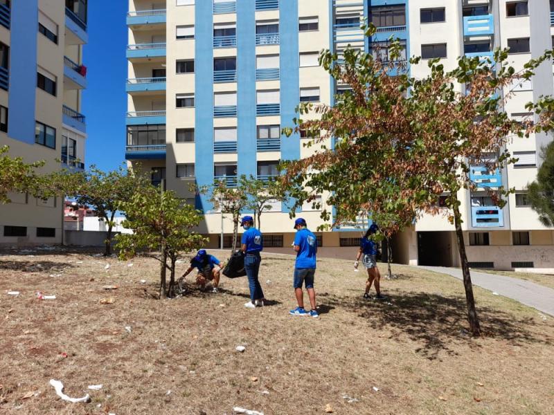Ação de limpeza - Voluntariado Sintra Jovem