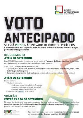 Eleições Autárquicas 2021- Voto Antecipado